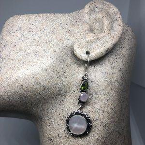 Vintage Mother of Pearl Sterling Silver Earrings